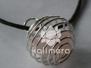 Smykkebur spiral sølv-519