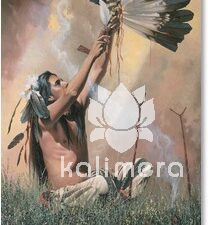 Black Feather Indianer kort-0