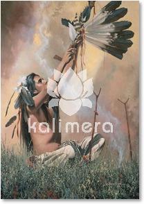Black Feather Indianer kort-0