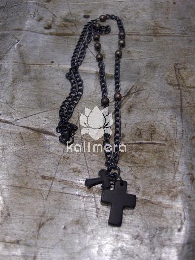 Smykke dobbelt kors-0
