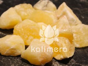 Gul kalsitt rå krystall - reduserer angst og stress-0